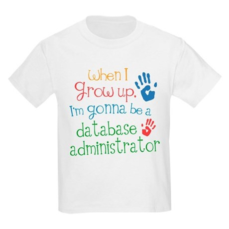 Future Database Administrator Kids Light T-Shirt