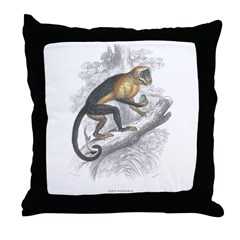 Sapajou Monkey Throw Pillow