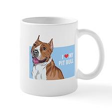 I Love My Pit Bull Mug