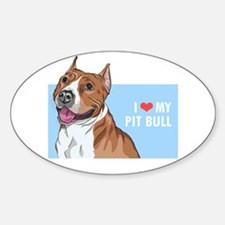 I Love My Pit Bull Decal