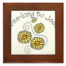 I Bee-long To Jesus Framed Tile