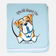 English Bulldog IAAM baby blanket