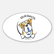 English Bulldog IAAM Sticker (Oval)