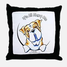 English Bulldog IAAM Throw Pillow