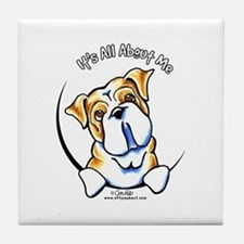 English Bulldog IAAM Tile Coaster