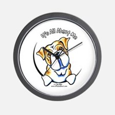English Bulldog IAAM Wall Clock