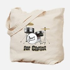 Drum For Christ Tote Bag