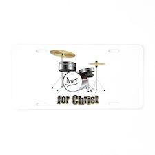 Drum For Christ Aluminum License Plate