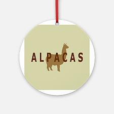 alpacas gifts & t's (sage/br) Ornament (Round)