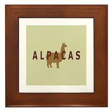 alpacas gifts & t's (sage/br) Framed Tile