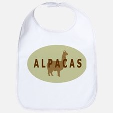 alpacas gifts & t's (sage/br) Bib