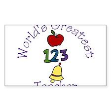 Worlds Greatest Teacher Decal