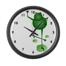 Dancing Frog Large Wall Clock