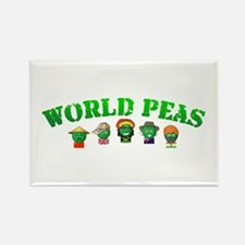 World Peas Rectangle Magnet