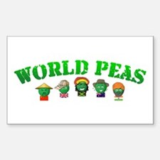 World Peas Rectangle Decal