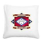 Arkansas diamond.png Square Canvas Pillow