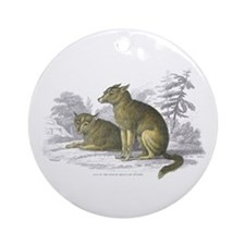American Indian Dog Ornament (Round)