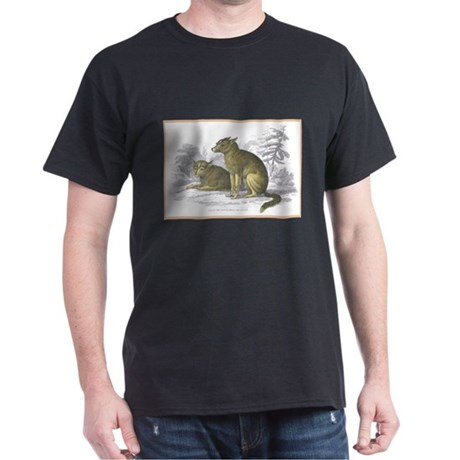 American Indian Dog (Front) Black T-Shirt
