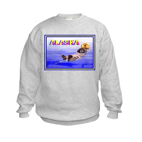 Alaskan Sea Otter Kids Sweatshirt