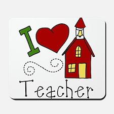 I Love Teacher Mousepad