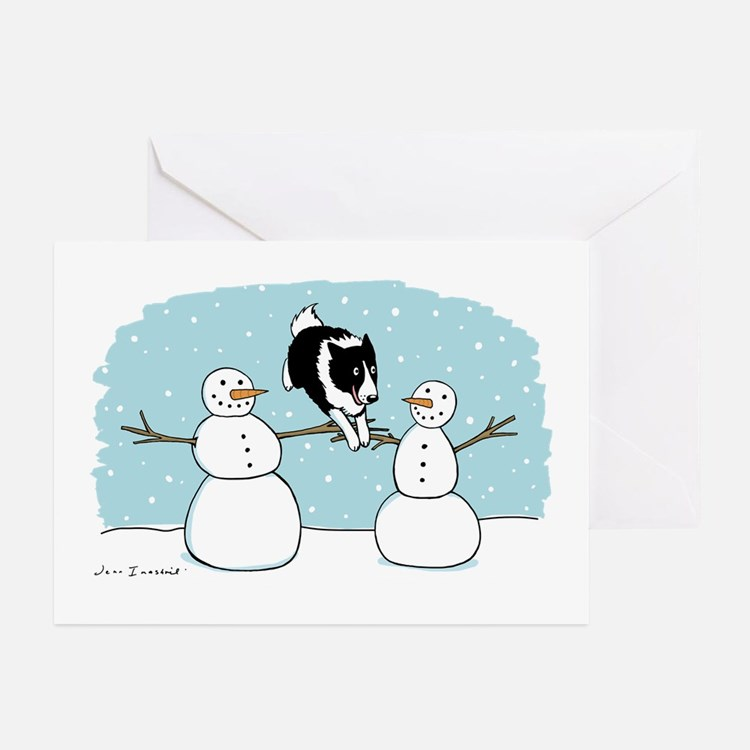 Border Collie Holiday Greeting Cards (Pk of 20)