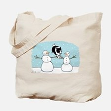 Border Collie Holiday Tote Bag