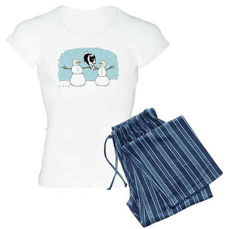 Border Collie Holiday Women's Light Pajamas