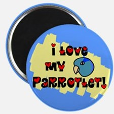 Anime Blue Parrotlet Magnet