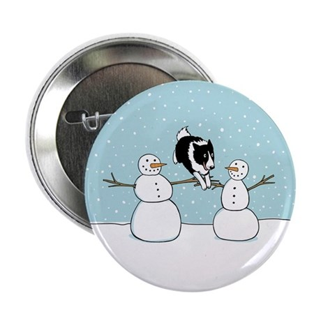"""Border Collie Holiday 2.25"""" Button (100 pack)"""