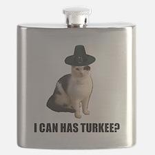 Thanksgiving Turkey Lolcat Flask
