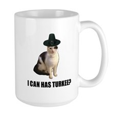 Thanksgiving Turkey Lolcat Mug