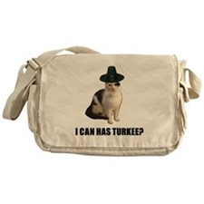 Thanksgiving Turkey Lolcat Messenger Bag