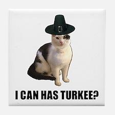 Thanksgiving Turkey Lolcat Tile Coaster