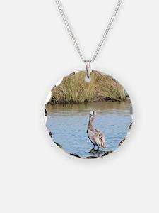 Sitting Pelican Bird Necklace