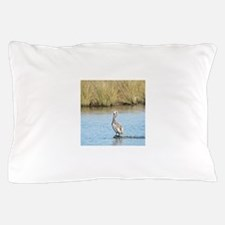 Sitting Pelican Bird Pillow Case