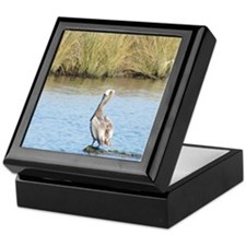 Sitting Pelican Bird Keepsake Box