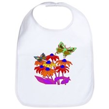 Butterflies And Flowers Bib
