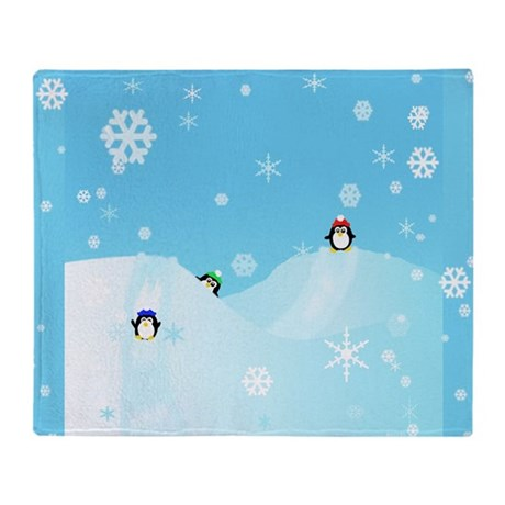 Penguin Paradise Throw Blanket
