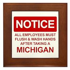 Flush Michigan Framed Tile