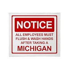 Flush Michigan Throw Blanket