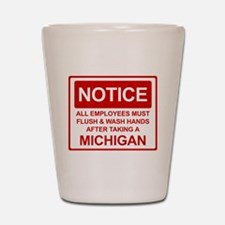 Flush Michigan Shot Glass