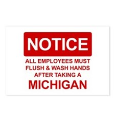 Flush Michigan Postcards (Package of 8)
