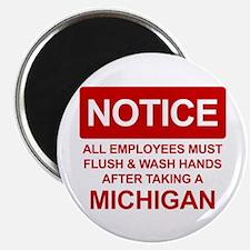 Flush Michigan Magnet
