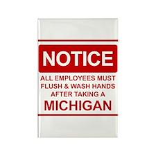 Flush Michigan Rectangle Magnet