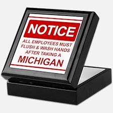 Flush Michigan Keepsake Box