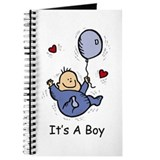 Due date peeking baby Journals & Spiral Notebooks