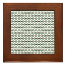 Baby Woodland Owls Pattern Framed Tile