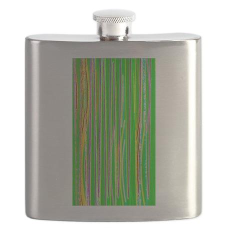 Green Davey Wavey Designer Flask