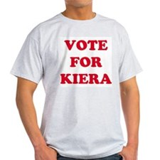 VOTE FOR KEIRA Ash Grey T-Shirt