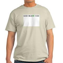 GOD BLE$$ YOU Ash Grey Wednesday T-Shirt